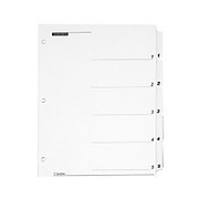 """Cardinal® - Dividers - Cardinal Quickstep Onestep Printable Table of Contents Dividers - 5 x Divider - Printed Tab - Digit - 5 Tab/set - 9"""" Divider Width x 11in Divider Length - Letter - 8.50"""" Width x 11in Length - 3 Hole Punched - White Paper Di"""