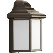 Progress Lighting™ - Fixture - Antique Bronze 1 13 Watts Gu24 Outdoor Wall Lantern