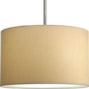 Progress Lighting™ - Fixture - 16 Drum Beig Fab Shade