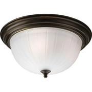 Progress Lighting™ - Fixture - Antique Bronze 3 75 Watts Medium Flush