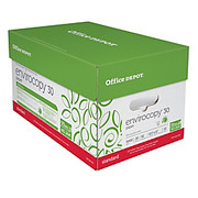 """Office Depot® - Paper - Envirocopy 30 Paper, 8-1/2"""" x 11"""", 20 lb, 30% Recycled, Fsc Certified, 500 Sheets Per Ream, Ca/10 Reams - CA of 10 RM"""