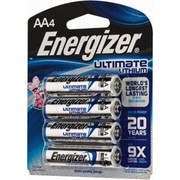 Energizer® - Batteries - AA Ultimate Lithium Energizer® Photo Battery 4 pk