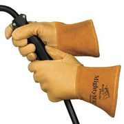 Value Collection - Welding Gloves - Welder's/heat Protective Gloves 4.5 Cuff Tan Small 1/Pair Leather Mig Welding Gloves