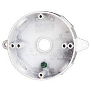 "Cooper Crouse-Hinds - Electrical Box - 1 Gang, (4) 1/2"" Knockouts, Aluminum Round Outlet Box  TP7148"