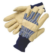 Radnor® - Gloves - Large Tan Pigskin Thinsulate® Lined Cold Weather with Knit Wrist and Knuckle Strap - CA of 2 PR