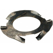 "As Raymond - Disc Spring - 0.516"" ID, Grade 1074 High Carbon Steel, Uncoated Finger Disc Spring F1004007 - CA of 25"