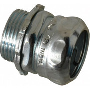 """Thomas & Betts - Conduit Fittings - 3/4"""" Trade, Steel Compression Straight Emt Conduit Connector"""