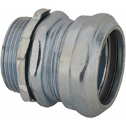"""Thomas & Betts - Conduit Fittings - 1-1/4"""" Trade, Steel Compression Straight Emt Conduit Connector"""