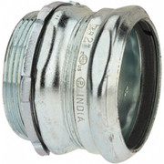 """Thomas & Betts - Conduit Fittings - 2"""" Trade, Steel Compression Straight Emt Conduit Connector"""