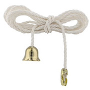"Luminance - Lighting Pull String - 36"" Pull-String with Brass End Bell in White 24/Pk - CA of 2 PK"