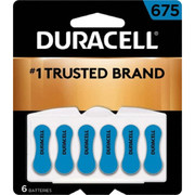Duracell® - Batteries - Da675b6 Sz675 1.4v 6/pk Zinc Air Hearing Aid Battery - PK of 6