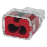IDEAL™ - Push In Wire Connectors - 2 Port, 18 to 12 Awg Compatible, Push-in Wire Connector  30-1032