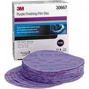 "3M™ - Hook & Loop Disc - 6"" Diameter, 1,500 Grit, Aluminum Oxide Hook & Loop Disc - PK of 50"