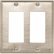 "Cooper Wiring - Switch Plate - 2 Gang, 4-1-2"" Long, Standard Switch Plate"