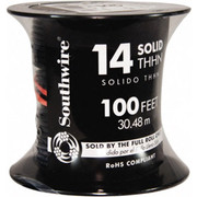 Southwire® - Building Wire - Thhn-thwn, 14 Awg, 15 Amp, 100' Long, Solid Core, 1 Strand Building Wire   - SO of 100 FT  11579042