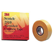 3M™ - Electrical Tape - Scotch® Varnished Cambric Tape Yellow, Non-Adhesive Coated 3/4 x 60' - 7 Mil, Yellow, PK20