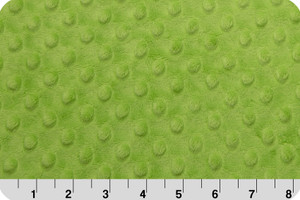 Lime Green Dot Minky Fabric - Shannon Fabrics Jade minky by the yard