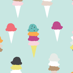 Ice Cream Fabric Multicolored - Art Gallery I Scream You Scream cotton