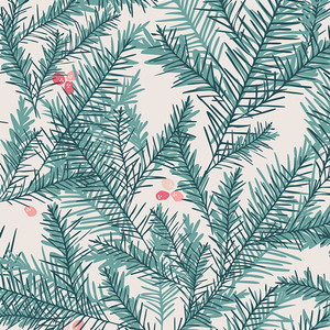Christmas fabric - Berry Pine Needles Be Merry Art Gallery Little Town