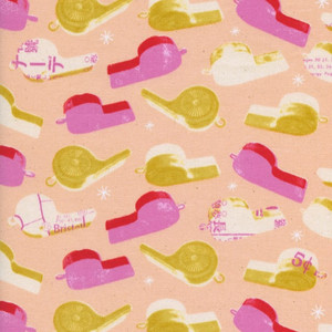 Pink whistles cotton fabric - Melody Miller Cotton + Steel Trinket