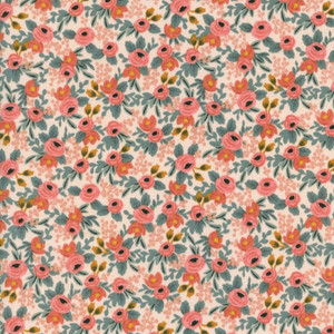 Rifle Paper Co. Rosa Peach Fabric - Cotton + Steel floral cotton