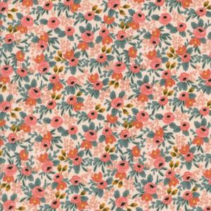 Rifle Paper Co. Rosa Peach Fabric - Cotton + Steel floral cotton