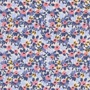 Rifle Paper Co. Rosa Periwinkle Fabric - Cotton + Steel floral cotton