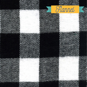 White black buffalo plaid - Christmas flannel fabric farmhouse fabric