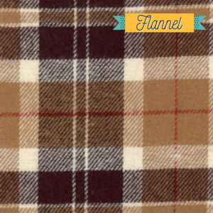 Brown plaid flannel fabric - Buffalo plaid fall thanksgiving fabric