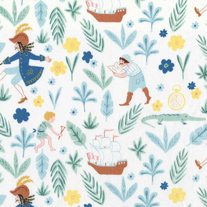 Peter Pan Captain Hook boys fabric - Michael Miller kids cotton fabric
