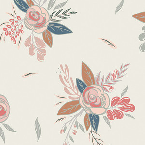 Autumn floral print fabric - Art Gallery Little Clementine cotton
