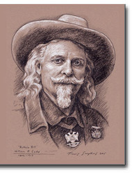 """Buffalo Bill,"" William F. Cody. 1846-1917 Freemason, Wild West Showman by Travis Simpkins"