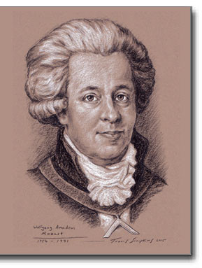 Wolfgang Amadeus Mozart (1756-1791) Freemason, Composer by Travis Simpkins.