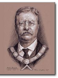 Theodore Roosevelt (1858-1919) Freemason, US President by Travis Simpkins.