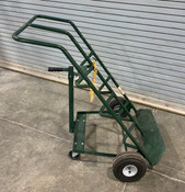 DAYTON 34D674 HAND TRUCK: for gas cylinders, two cylinder capacity (Used)