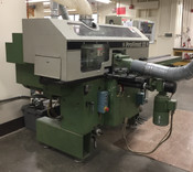 "WEINIG PROFIMAT P 22 N MOULDER: 3 phase, ATS for 2 heads, variable speed feed, 1.5"" spindles (Used)"