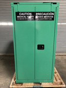 SECURALL 9 H CYLINDER VERTICAL MEDICAL FIRE LINED GAS CABINET (Used)