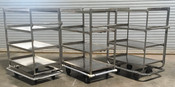 EXTRA HEAVY DUTY BANQUET CART: 4 shelf w/ handle, stainless steel (Used)