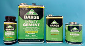 LOT OF BARGE INFINITY CEMENT SHOE REPAIR PRODUCTS: primer, rubber solution, rubber additive (New)
