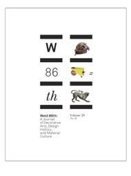 West 86th: Volume 20, No. 01 (Spring–Summer 2013)