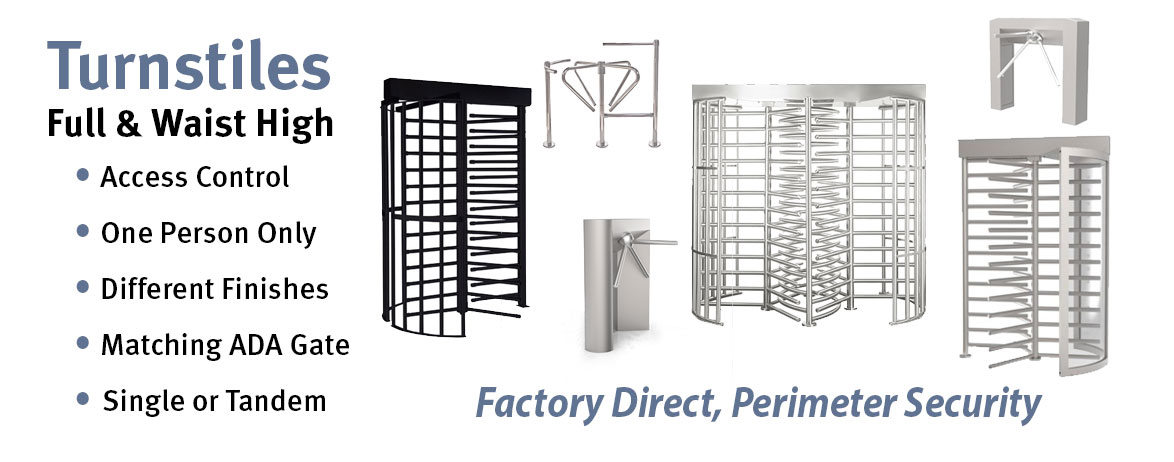 Full Height Turnstiles, Full Height Turnstyles, Stainless Steel Turnrstyles, Galvanized Steel Turnstles, Retail Store Turnstiles