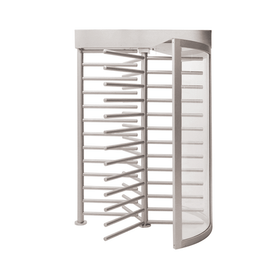 Full Height Turnstile with Clear Curved Side