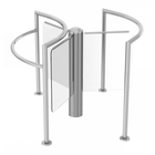 Motorized Glass Turnstile, Lobby Elegance