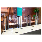 "Mid-Height 46""  Clear Panel Optical Turnstiles"