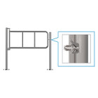 Latch Post Gate, Stainless, 1 Direction