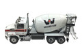 Diecast Masters Western Star 4700 SF Concrete Mixer Truck White with White Drum 1/50 71035