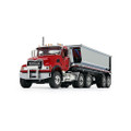 First Gear Mack Granite with Round Body End Dump Trailer (10-4181)
