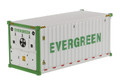 Diecast Masters Evergreen - 20' Refrigerated Shipping Container in White 1/50