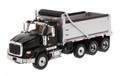Diecast Masters International HX620 Dump Truck in Black W/ Silver Grey Bed 1/50