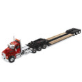 Diecast Masters Kenworth T880 Day Cab Tridem Tractor Red w/XL 120 Lowboy 1/50